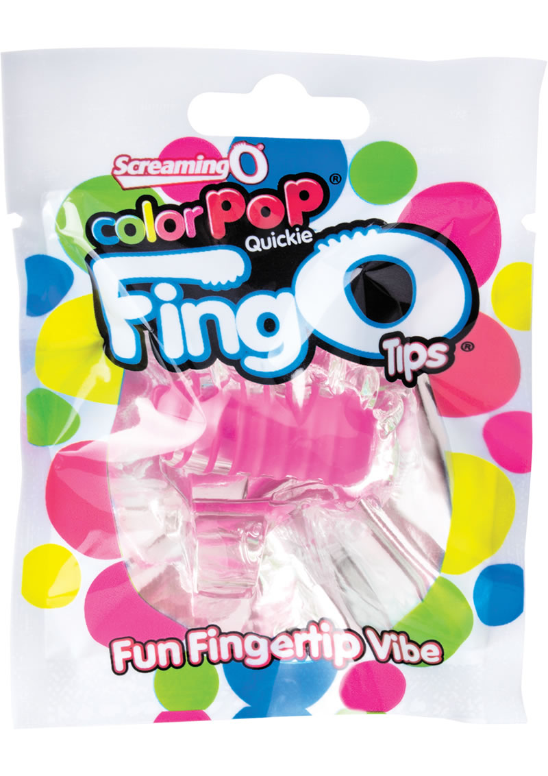 Color Pop Quickie Fing O Tips Fingertip Vibes Pink 12 Each Per Box