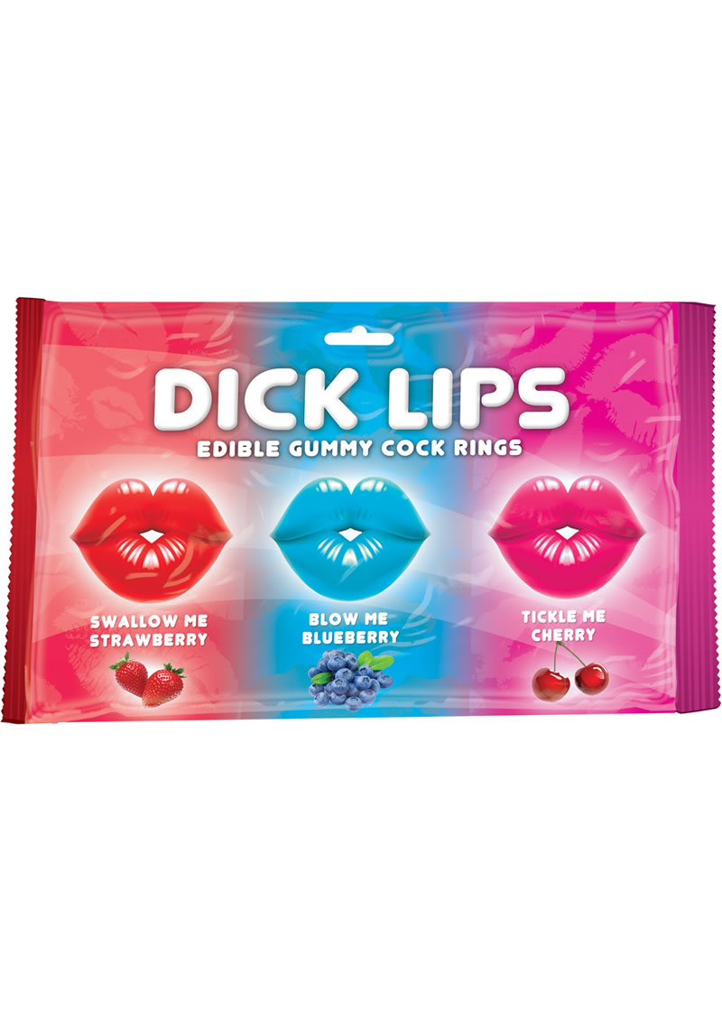 Dick Lips Edible Gummy Cock Rings 3 Pack