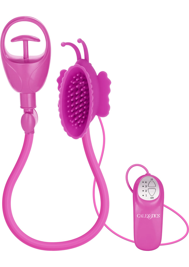 Advanced Butterfly Silicone Clitoral Pump Waterproof Pink