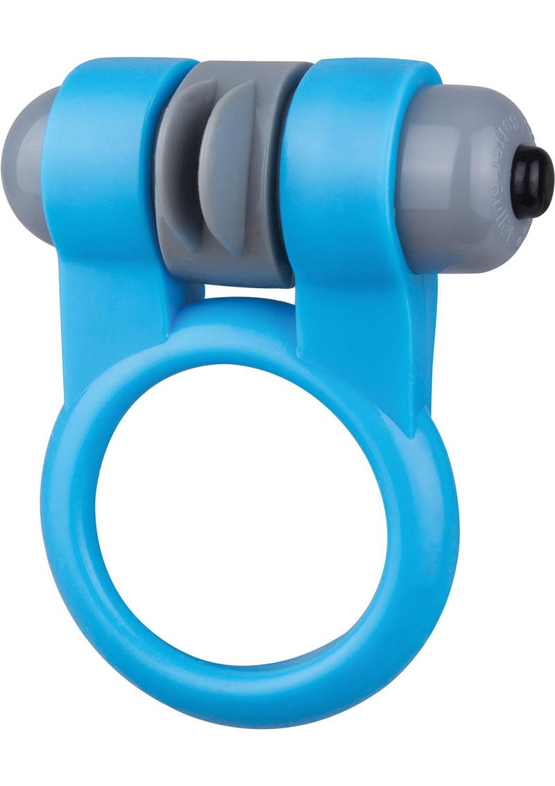 Sport Vibrating Cockring Waterproof Blue 6 Each Per Box