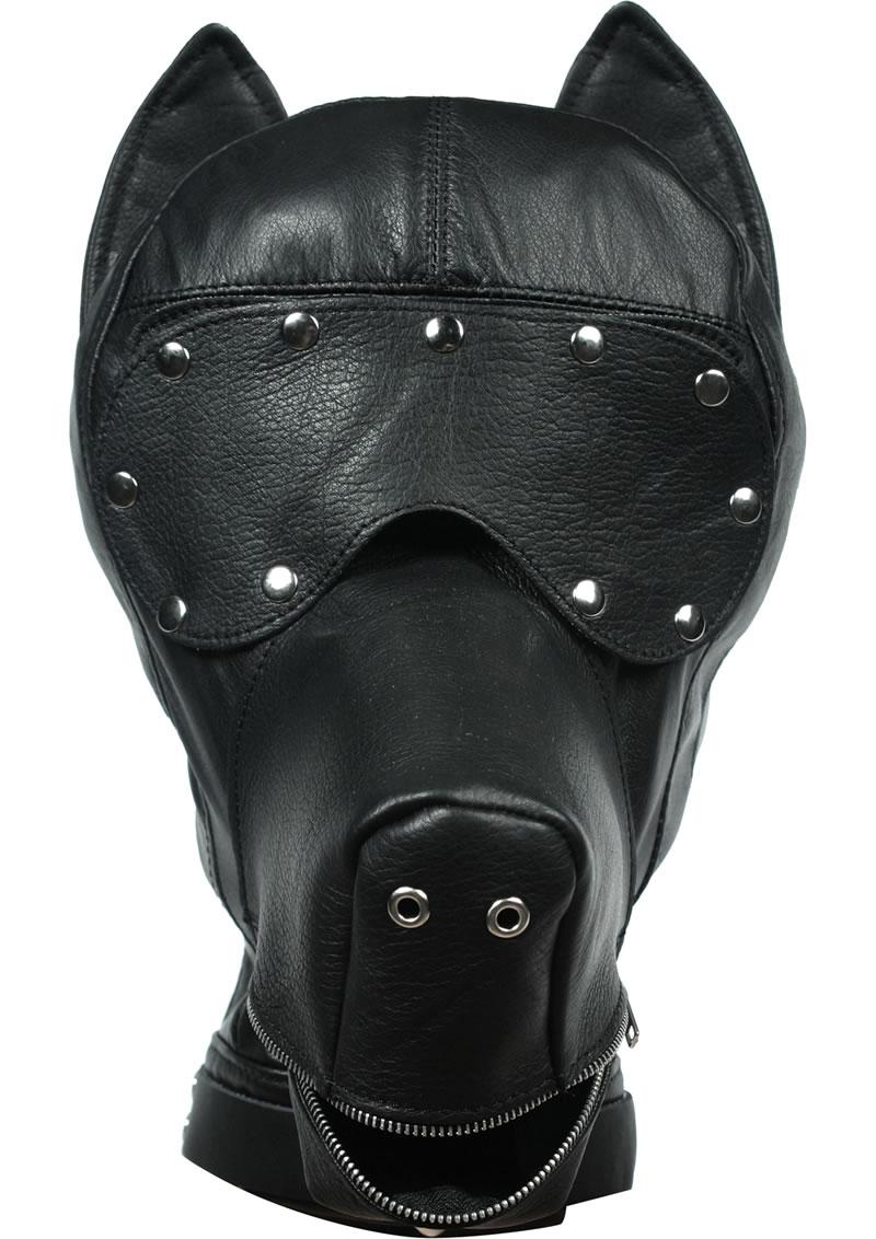 Ultimate Dog Hood Leather Black