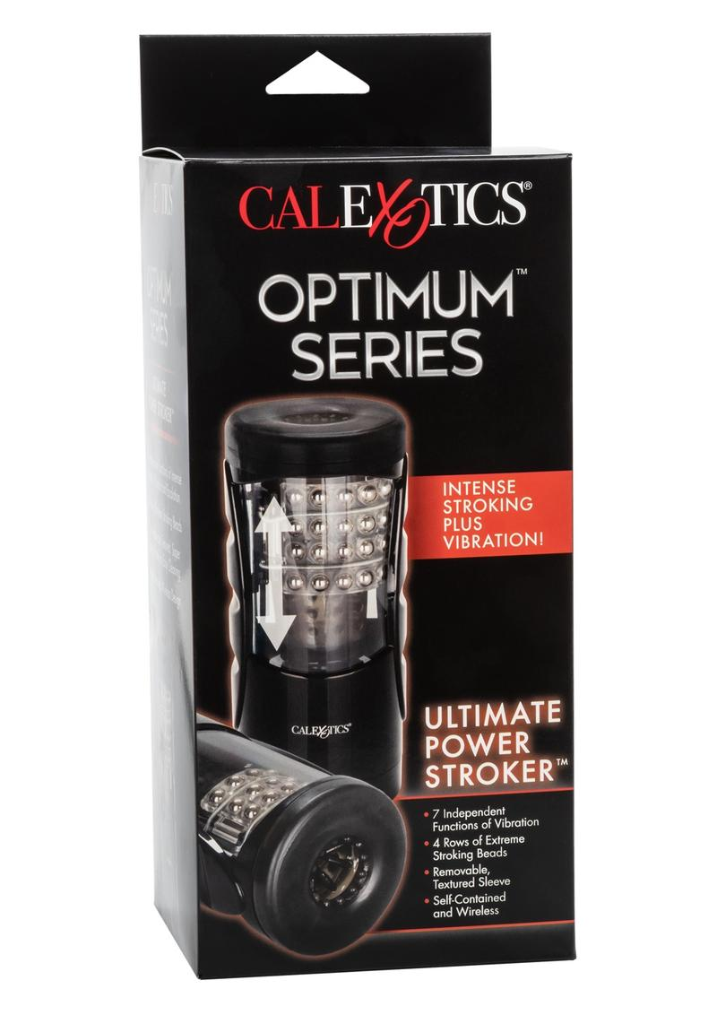 Optimum Power Ultimate Power Stroker Multifunction Beaded Masturbator 8.5 Inch