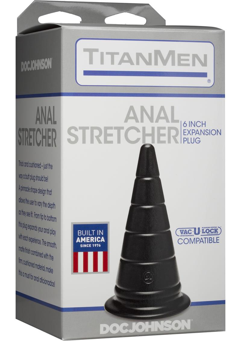 Titanmen The Anal Stretcher Expansion Anal Plug Black 6 Inch