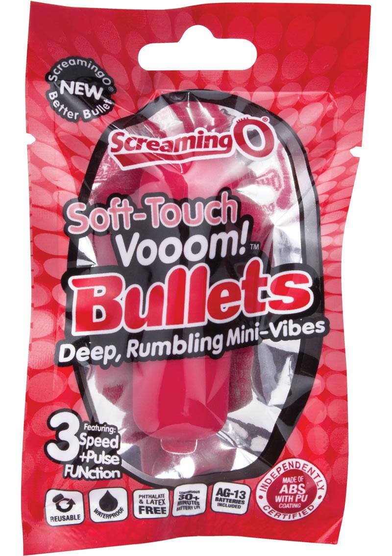 Soft Touch Vooom Bullets Reuseable Latex Free Waterproof Red