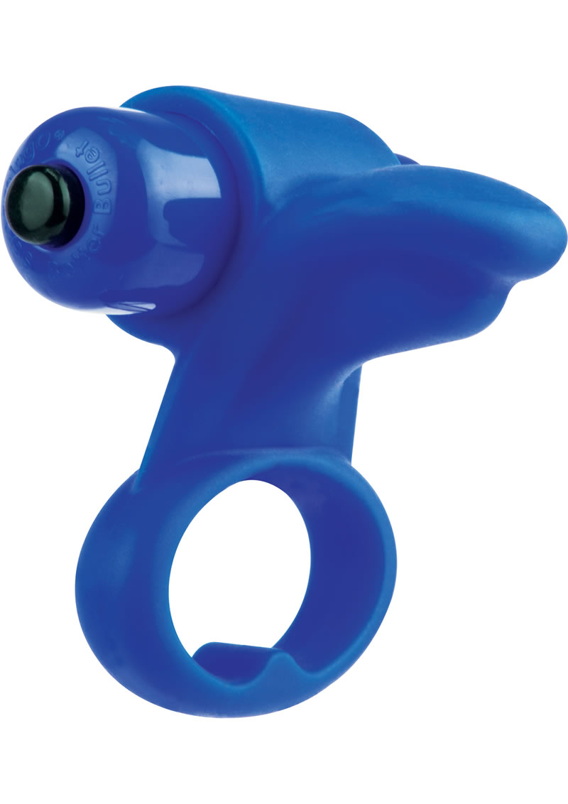 You Turn 2 Finger Vibe Silicone Ring Waterproof Blueberry