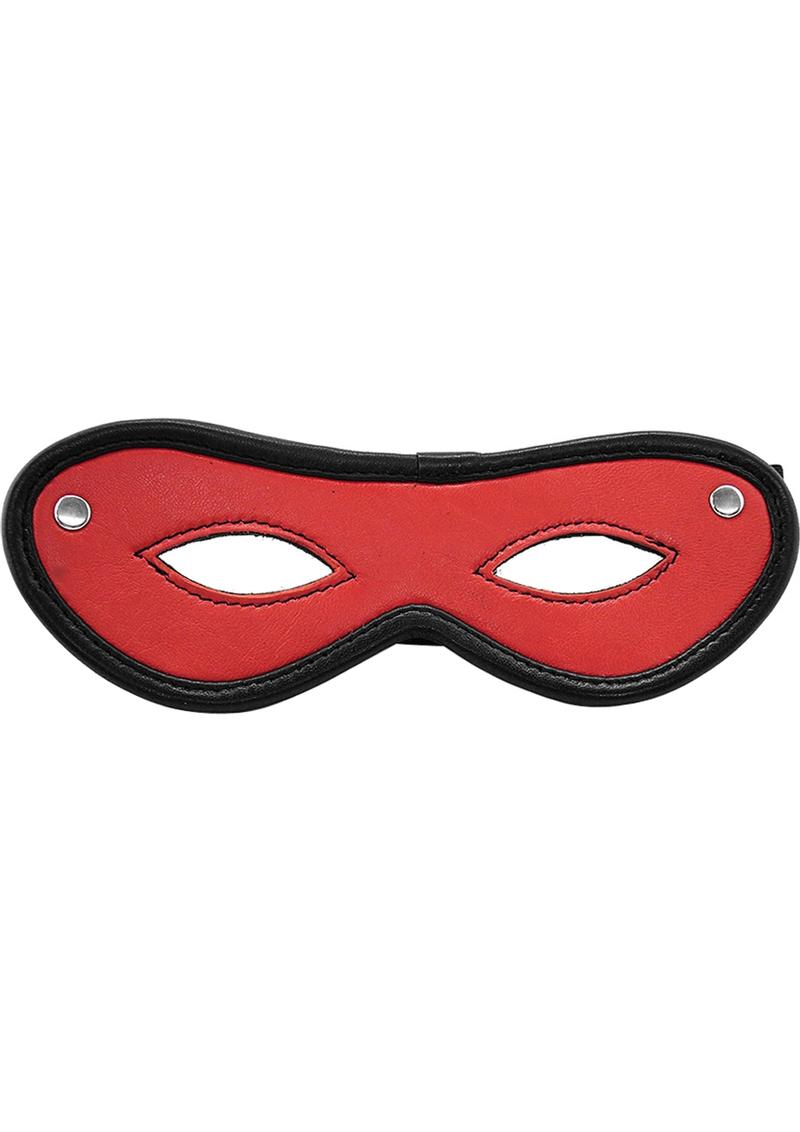 Rouge Open Eye Mask Leather Red