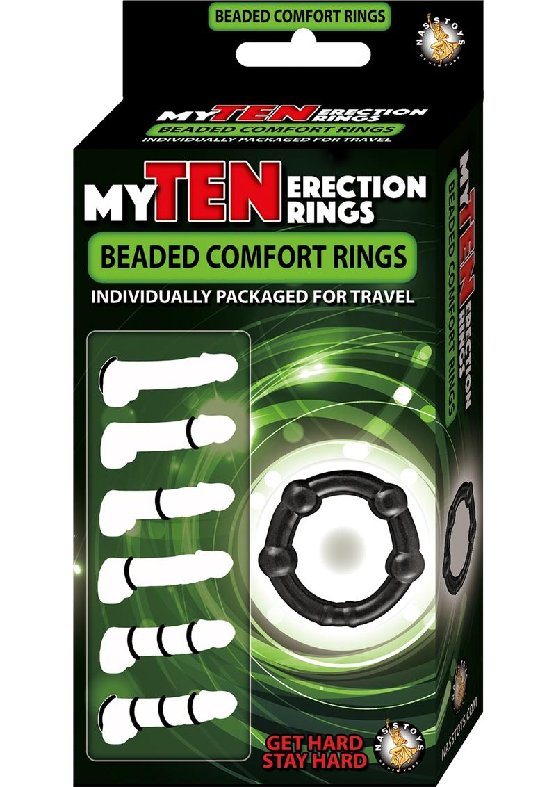 My Ten Erection Rings Beaded Comfort Rings