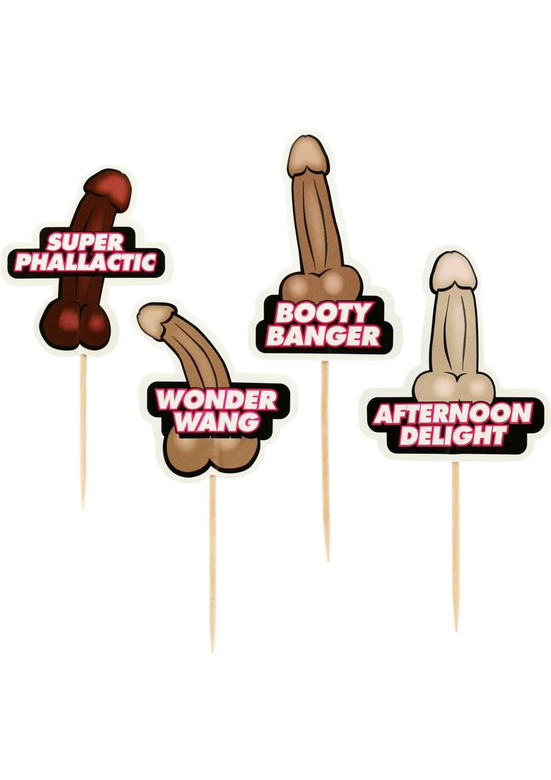 Party Picks Naughty Party Toothpick Toppers 24 Each Per Pack