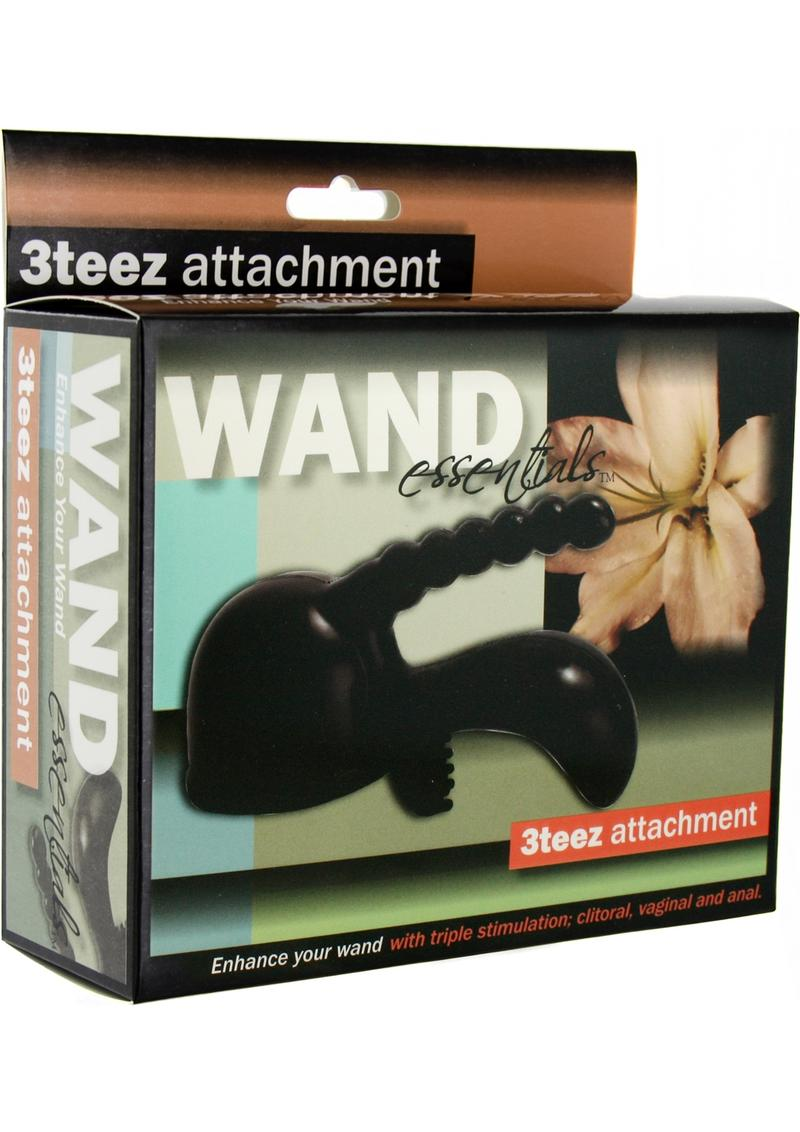 Wand Essentials 3teez Wand Attachment Black