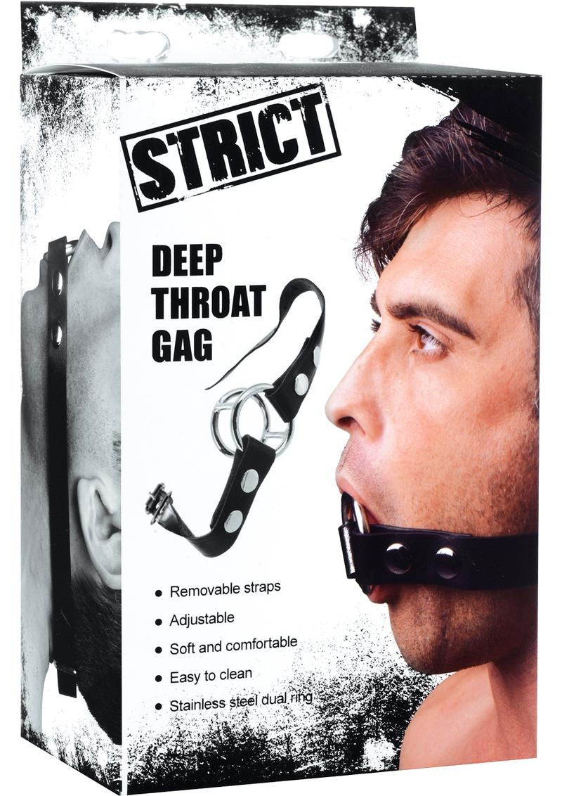 Strict Deep Throat Gag Black