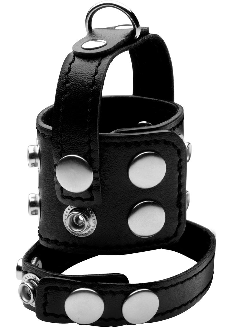 Strict Cock Strap And Ball Stretcher Black