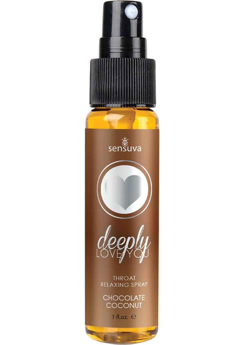 Sensuva Deeply Love You Throat Relaxing Spray Chocolate Coconut Flavor 1oz
