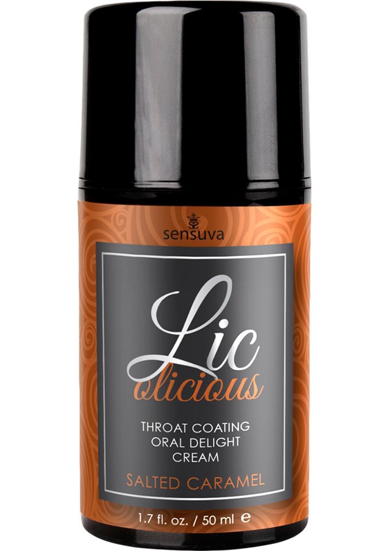 Sensuva Licolicious Throat Coating Oral Delight Cream Salted Caramel Flavored Lubricant 1.7oz