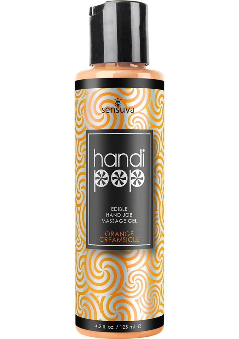 Sensuva Handi Pop Edible Hand Job Massage Gel Orange Cream Flavored Lubricant 4.2oz
