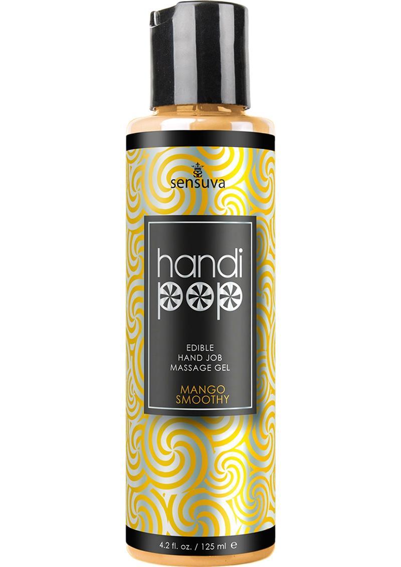 Sensuva Handi Pop Edible Hand Job Massage Gel Mango Smoothie Flavored Lubricant 4.2oz