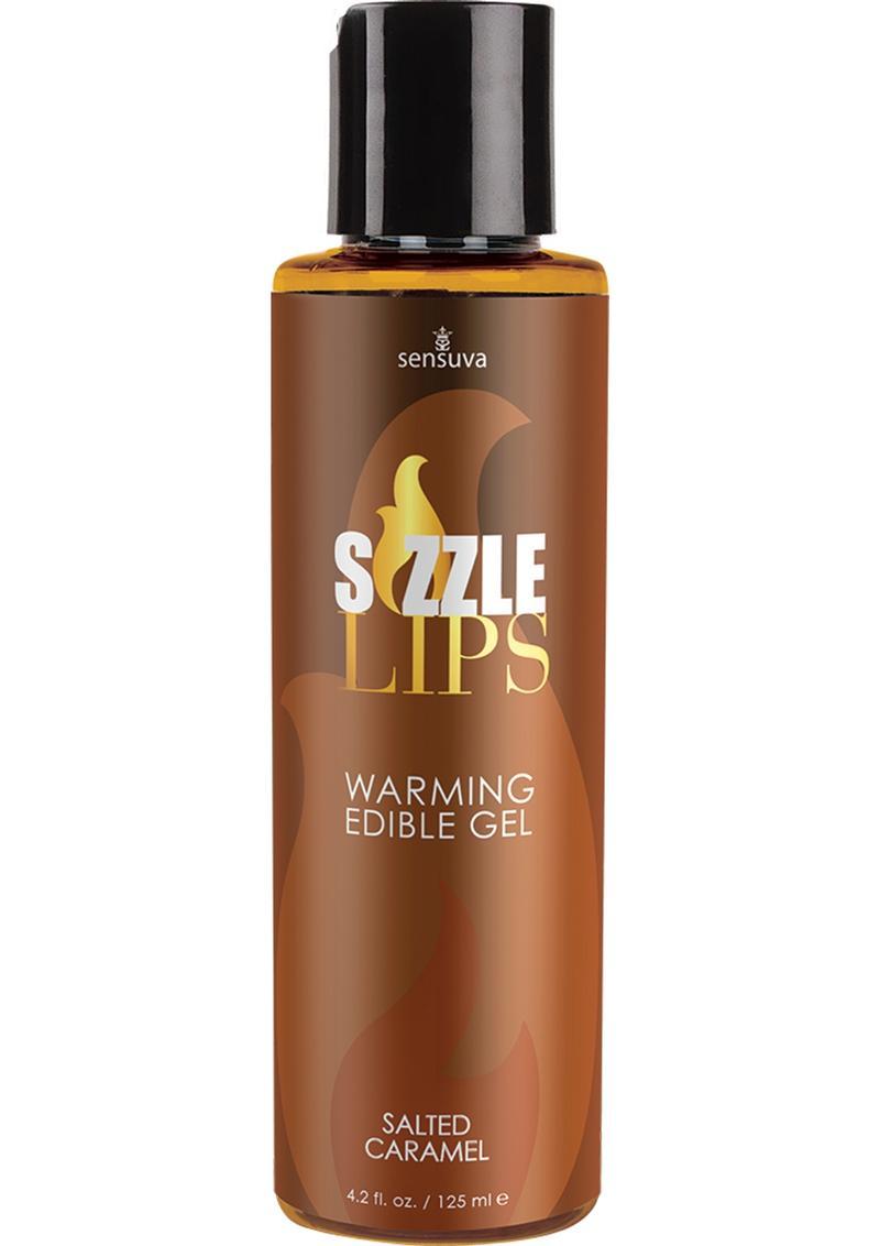Sensuva Sizzle Lips Warming Edible Gel Salted Caramel Flavor 4.2oz