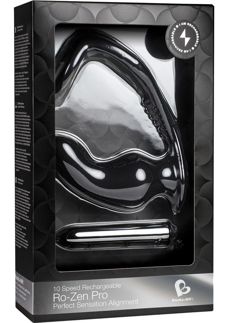 Ro-Zen Pro 10 Speed Rechargeable Silicone Waterproof Black
