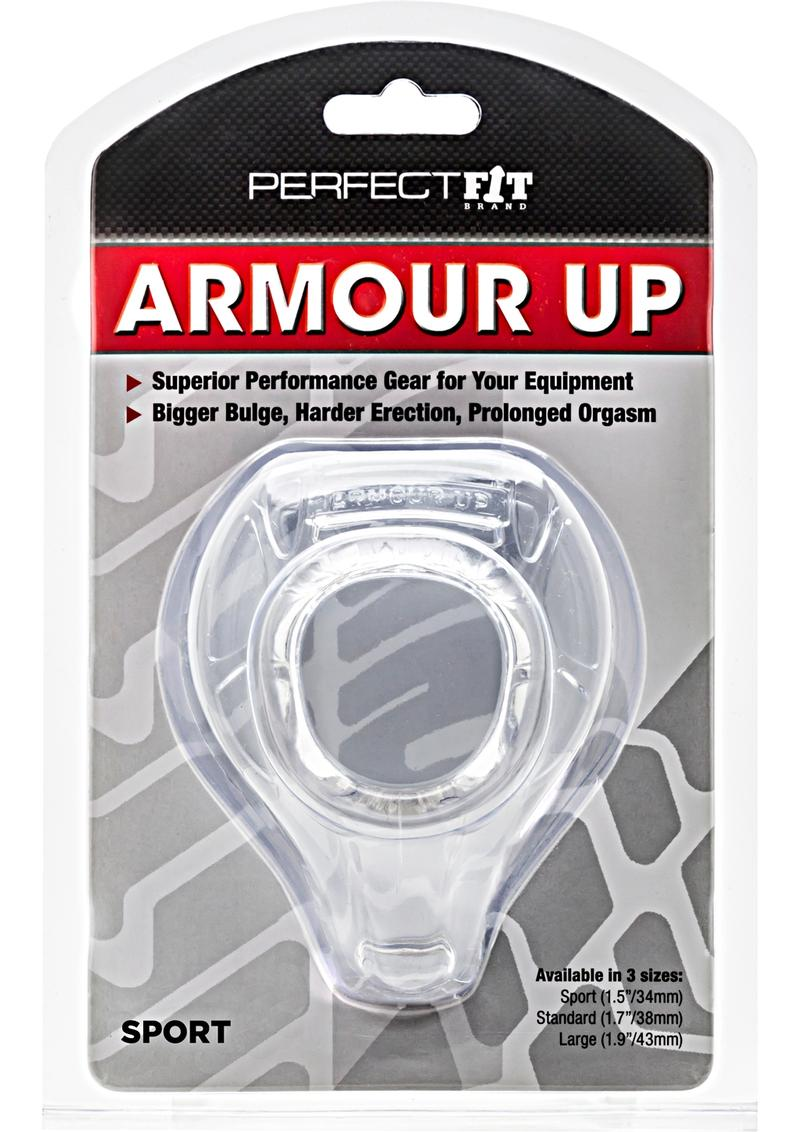 Perfect Fit Armour Up Sport Cock Ring - Clear