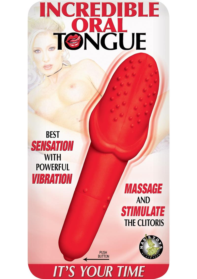Incredible Oral Tongue Silicone Vibe Waterproof Red 6.25 Inch