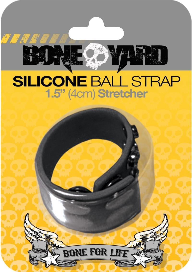 Bone Yard Silicone Ball Strap Black