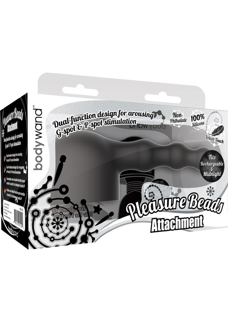 Bodywand Silicone Pleasure Beads Attachment Black Small