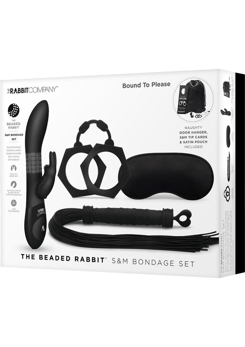 The Beaded Rabbit SandM Bondage Set Silicone Black