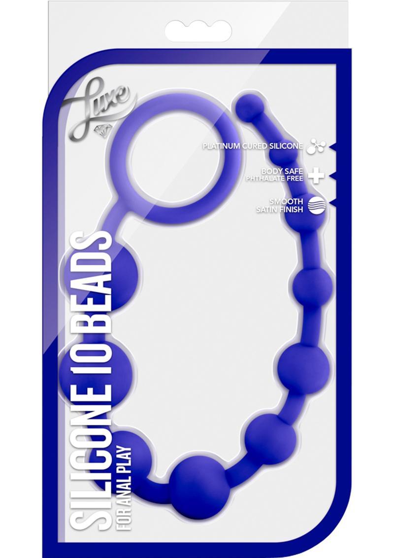 Luxe Silicone 10 Beads indigo