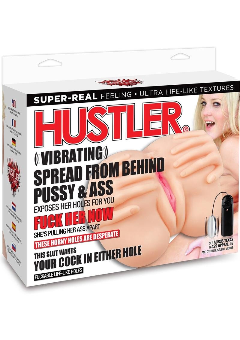 Hustler Vibrating Spread From Behind Pussy and Ass