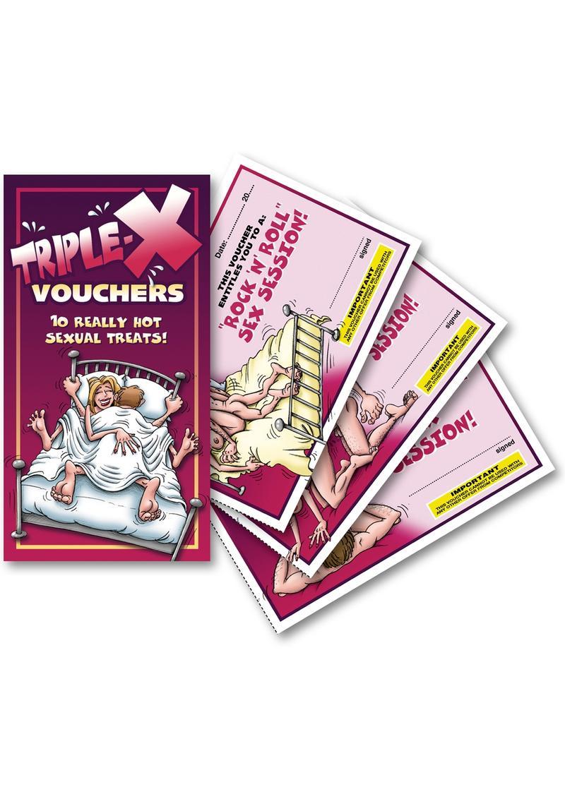 Triple-X Vouchers 10 Each Per Pad
