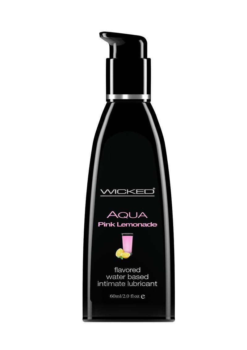 Wicked Aqua Flavored Water Based Lubricant Pink Lemonade 2 Ounce