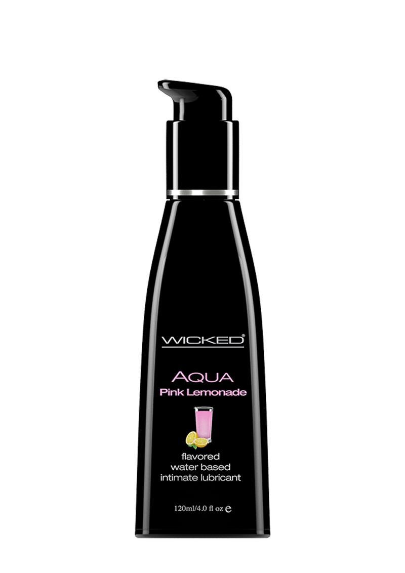 Wicked Aqua Flavored Water Based Lubricant Pink Lemonade 4 Ounce