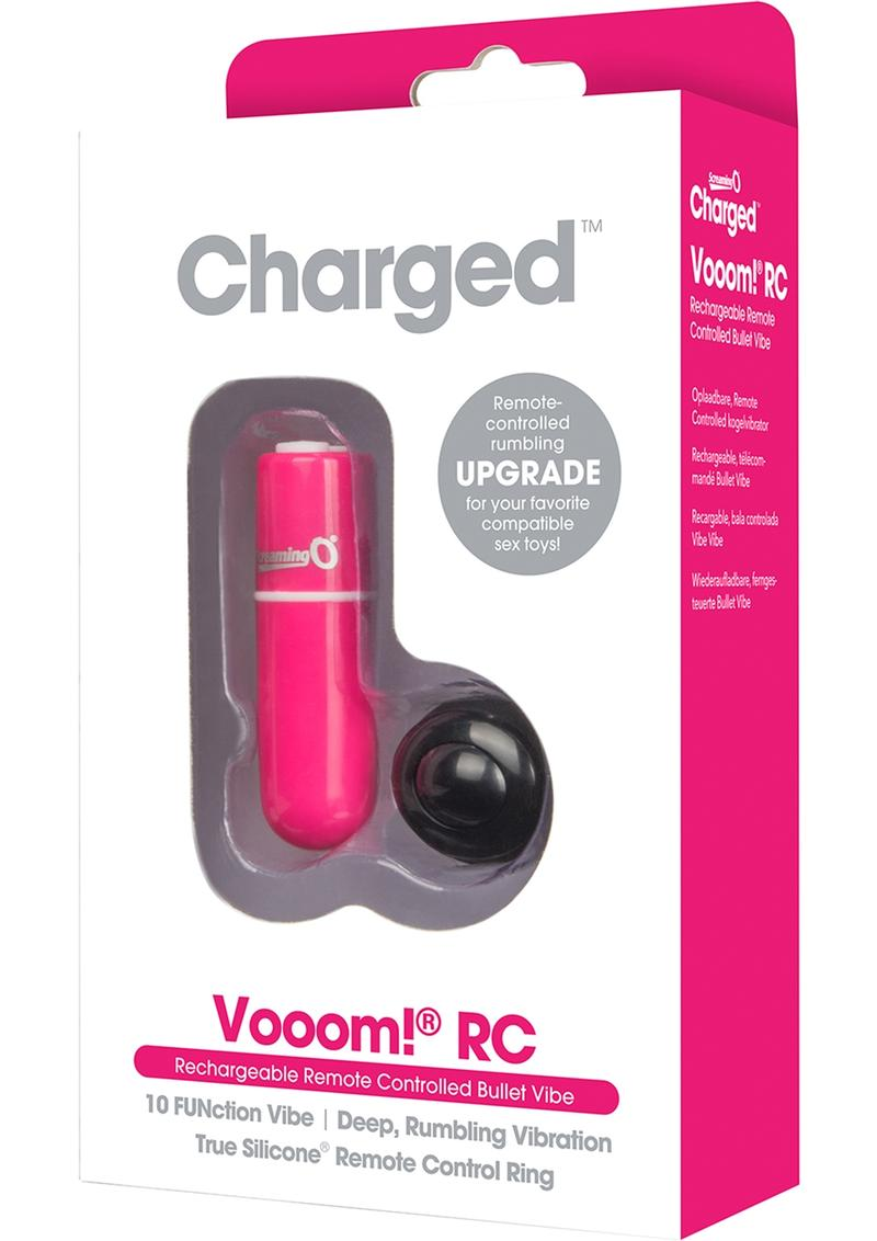 Vooom Wireless Remote Control Silicone USB Rechargeable Bullet Waterproof Pink