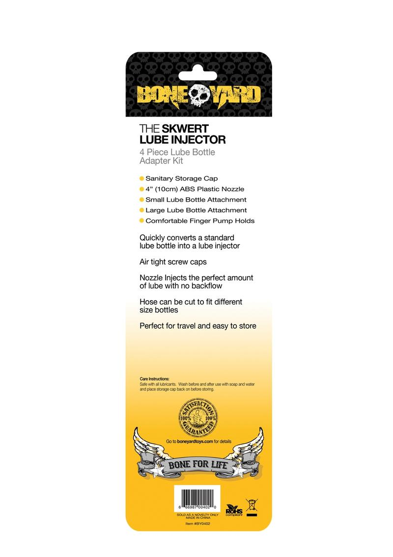 Bone Yard Skwert Lube Injector Adapter 4 Piece Kit