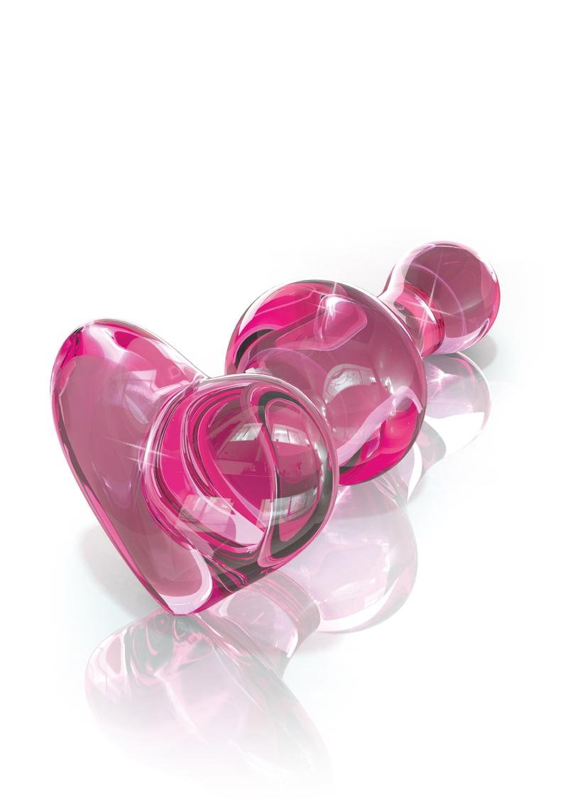 Icicles No 75 Glass Anal Plug Pink 3.1 Inch