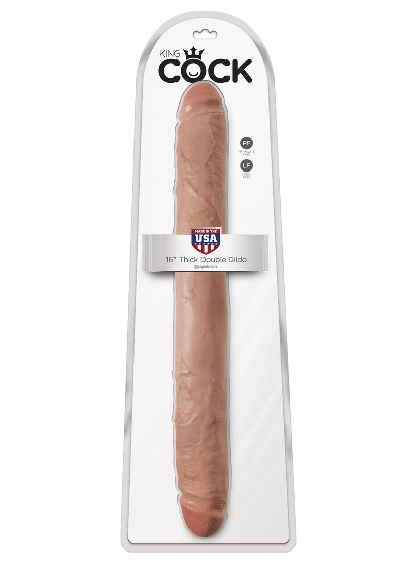 King Cock Thick Double Dildo Tan 16 Inch