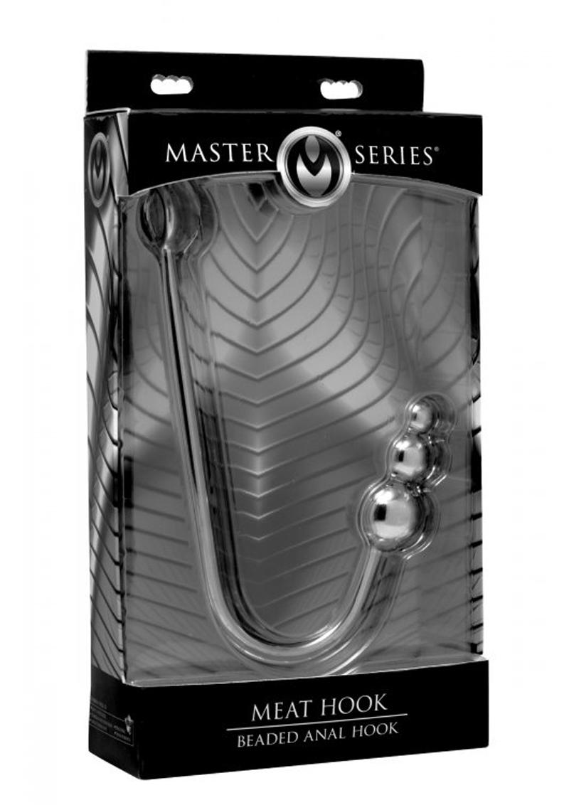Master Series Meat Hook Beaded Anal Hook Stainless Steel 16 Inch