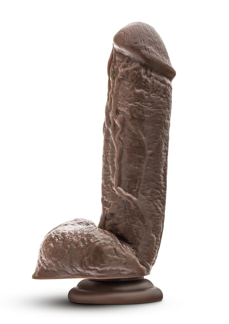 Dr Skin Mr. D Realistic Dildo With Balls Chocolate 8.5 Inch