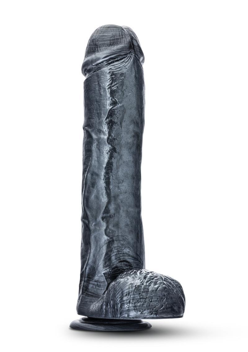 Jet Onyx Dildo Carbon Metallic Black 11.5 Inches