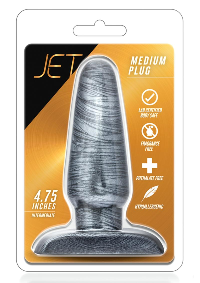 Jet Medium Plug Carbon Metallic Black 4.75 Inches
