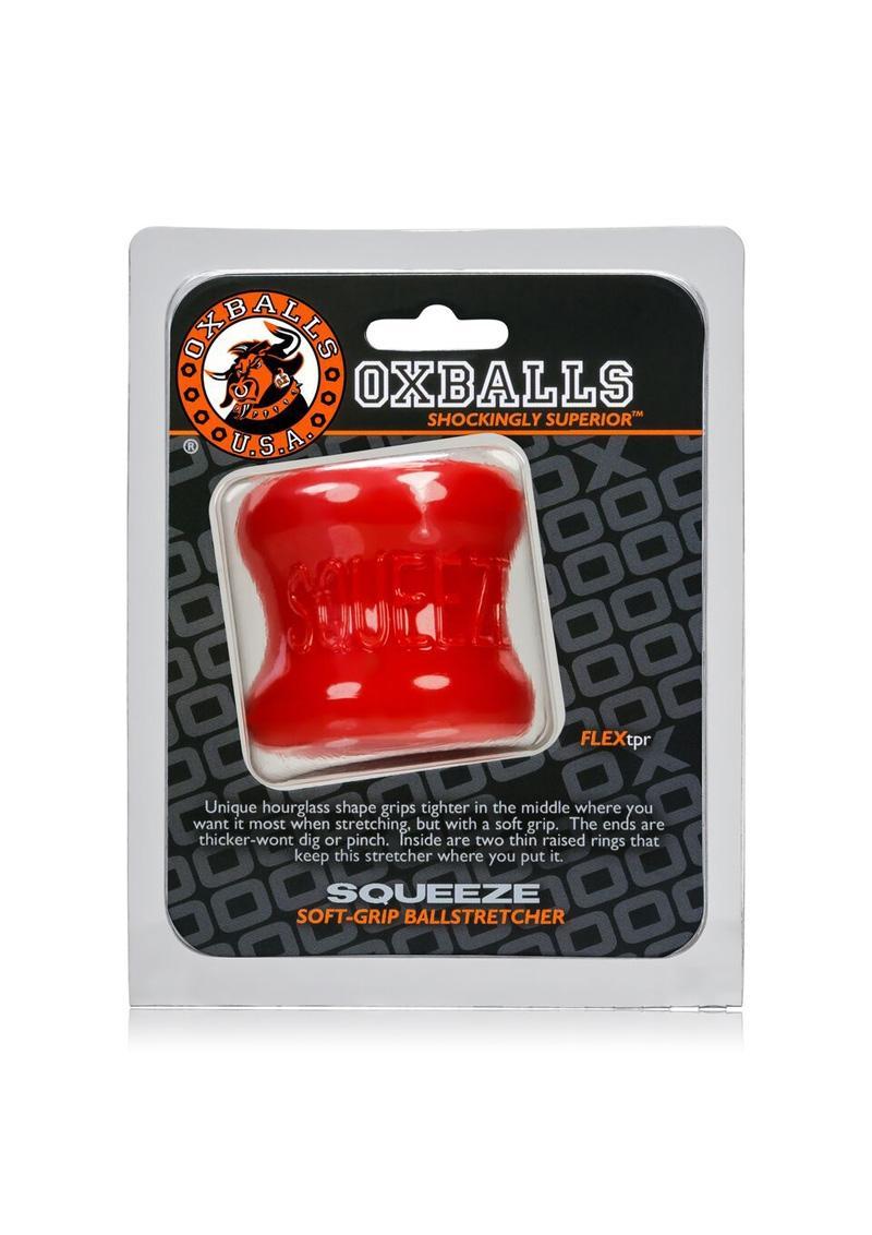 Oxballs Squeeze Soft Grip Ballstretcher Red