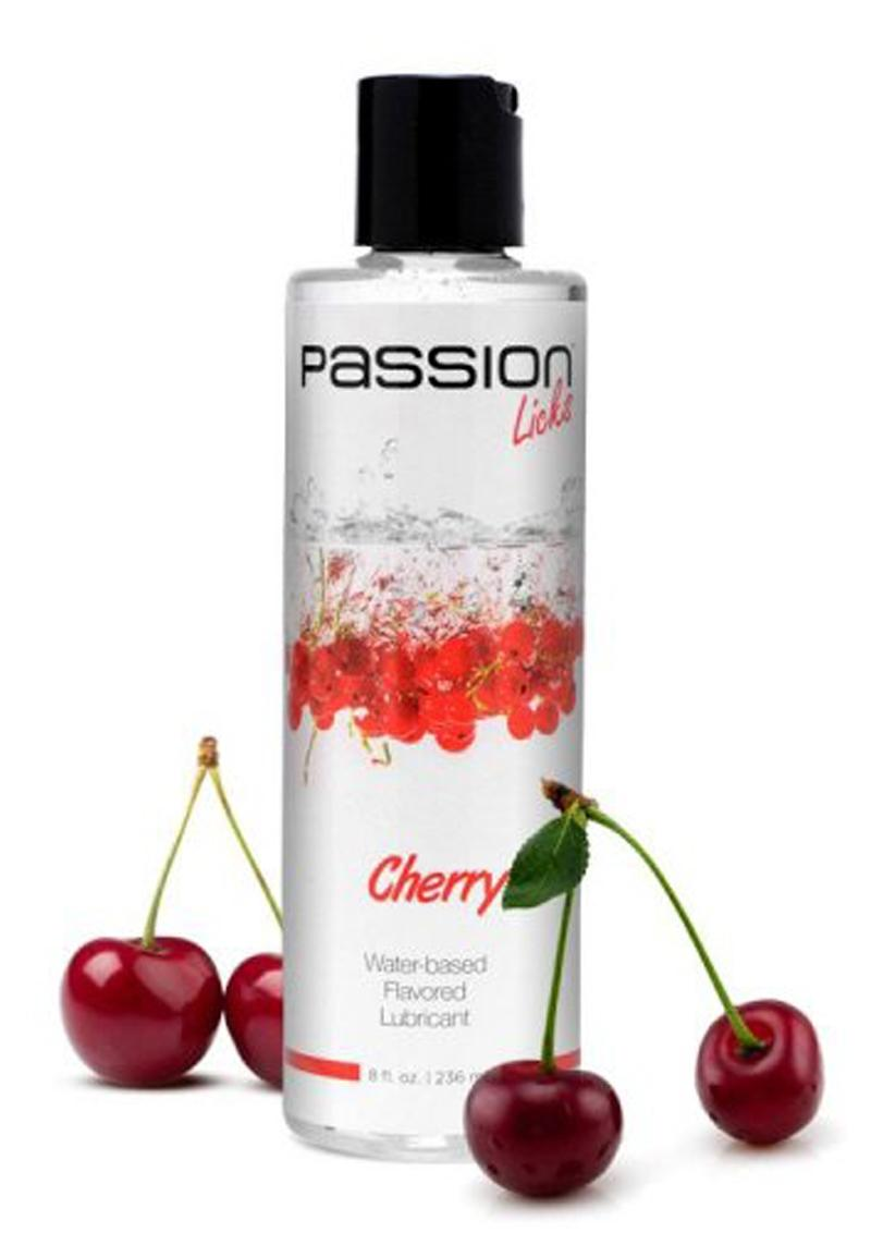 Passion Licks Water-based Flavored Lubricant Cherry 8 Ounce