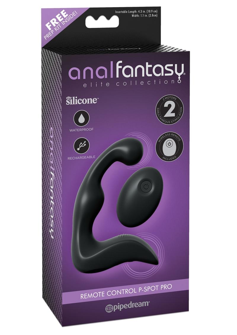 Anal Fantasy Elite Silicone  Rechargeable Remote Control P Spot Pro Waterproof Black