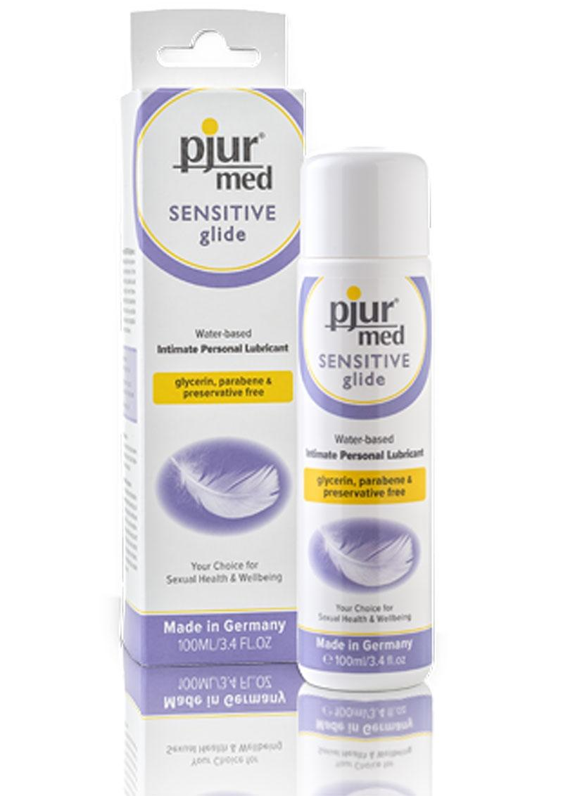 Pjur Med Sensitive Glide Water based Intimate Personal Lubricant 3.4 Ounce/100ml