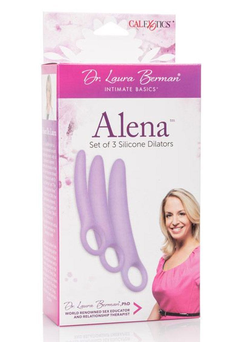 Dr. Laura Berman Intimate Basics Alena Silicone Dialators Set Waterproof Purple 2 Each