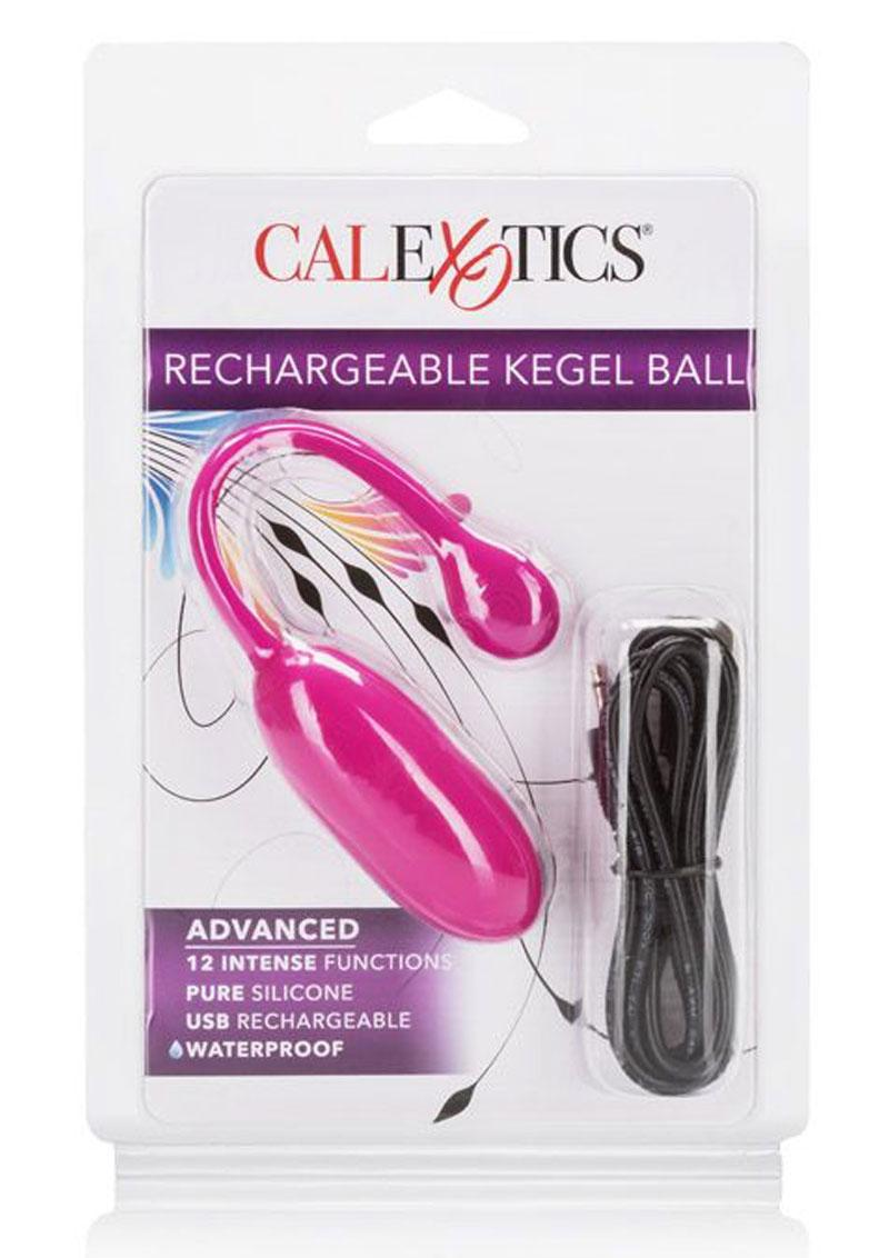 Rechargeable Kegel Ball USB Recharge Silicone Ball Waterproof Pink 3 Inch