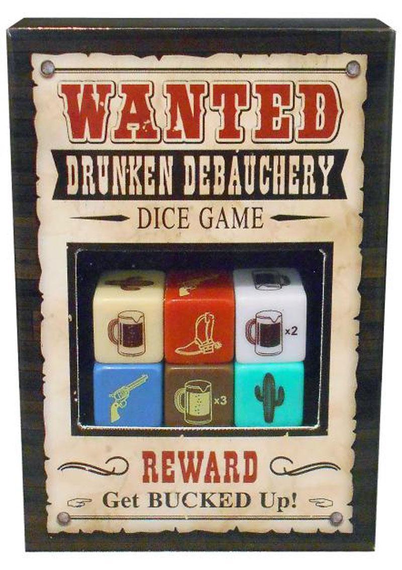 Wanted Drunken Debauchery Dice Game