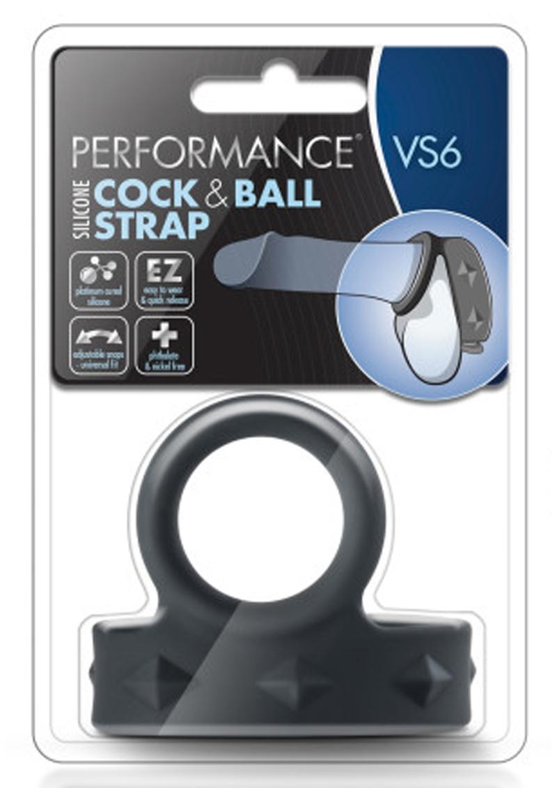 Performance VS6 Silicone Cock and Ball Strap Black