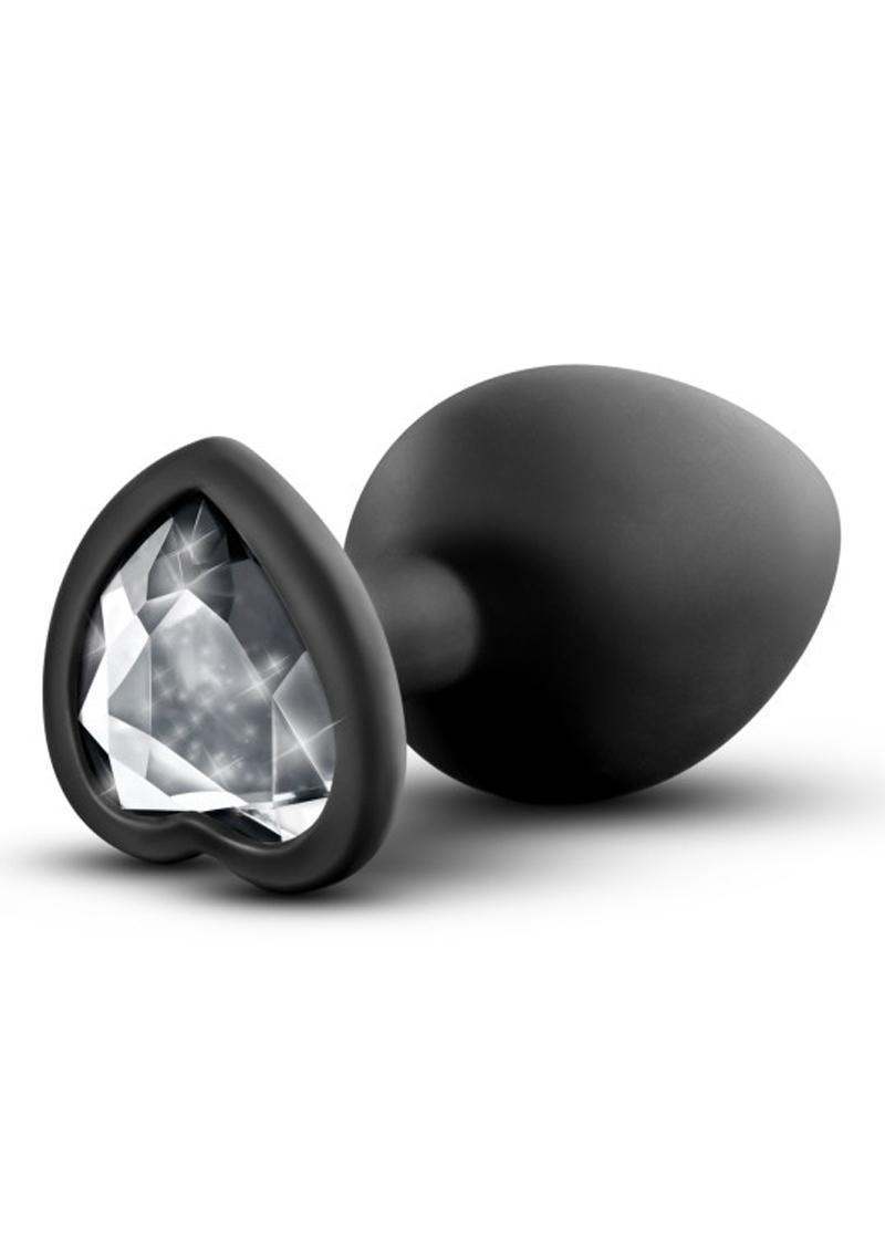 Temptasia Bling Silicone Anal Plug Medium Black 3.25 Inch