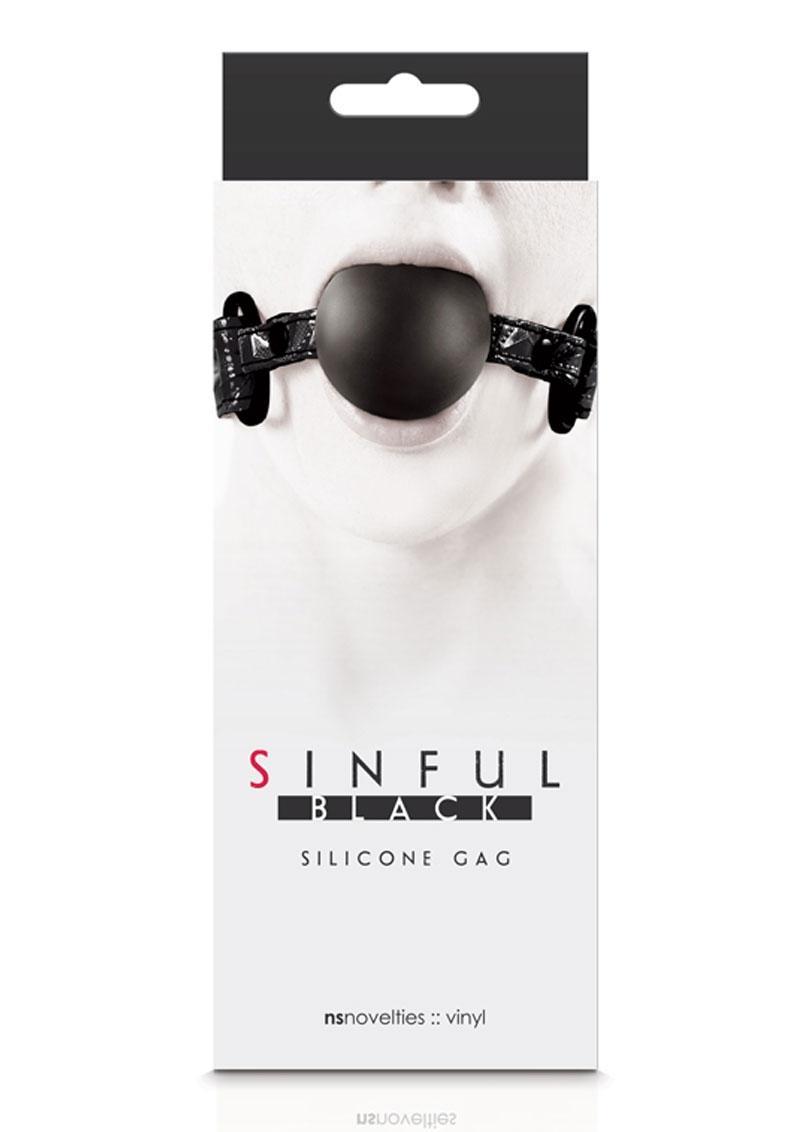 Sinful Silicone Gag - Black