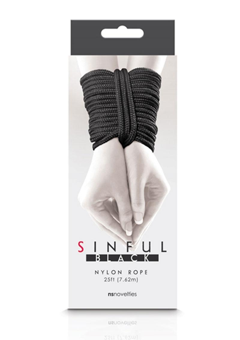 Sinful Nylon Rope 25ft - Black